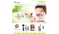 # Cosmetics theme with parallax green style