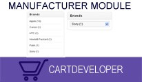 Manufacturer Module for Opencart