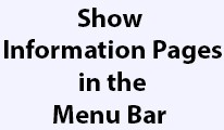 Show Information Pages in Menu Bar