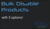 Bulk Disable Products with 3 options