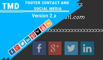 TMD Footer contact and Social media ocmod 2.0