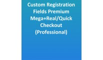Custom Registration Mega+Real/Quick Checkout(Professional)