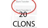 Bank transfer 20 clons