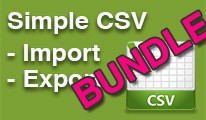 Simple CSV Import / Export, Any Database Table BUNDLE