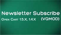 Newsletter Subscribe (VQMOD)