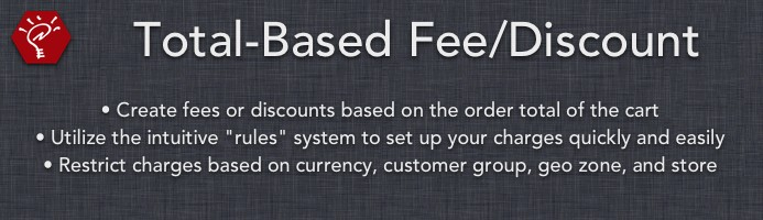Total-Based Fee/Discount