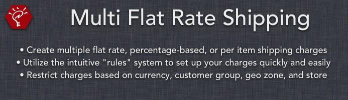 Multi Flat Rate Shipping