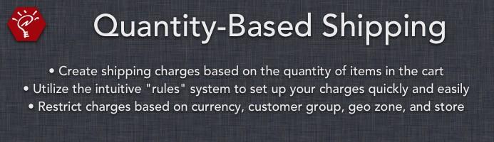 Quantity-Based Shipping