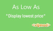 As Low As - Display Lowest Price