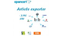 AUTOMATIC ARTICLE EXPORTER, EXPORT EXCEL, EXPORT XML, EXPORT CSV