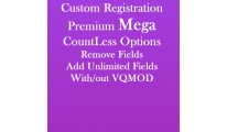 Custom Registration Fields Premium-Mega Countless options