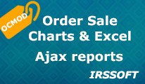 Order Sale Charts and Excel Ajax reports (OCMOD)
