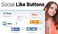 Social Like Buttons (Facebook, Twitter, Pintrest, Google etc)