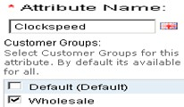 Attribute - Customer Group Wise