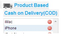 Cash on delivery based on products & Categories