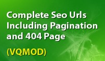complete seo urls including pagination and 404 page