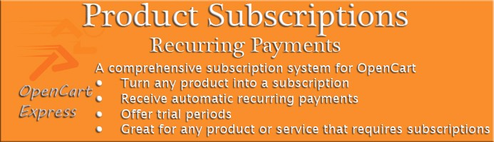 Product Subscriptions - Automatic Recurring Payments
