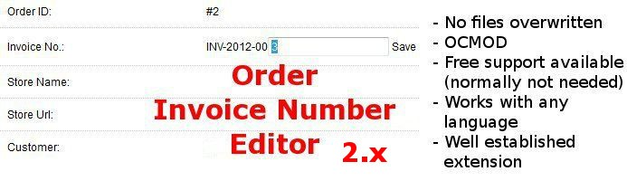 Edit Invoice Number 2.x