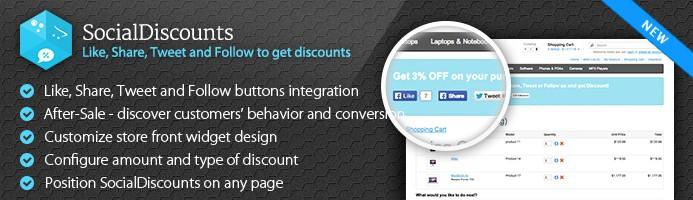 SocialDiscounts - Like/Share/Tweet to get a discount