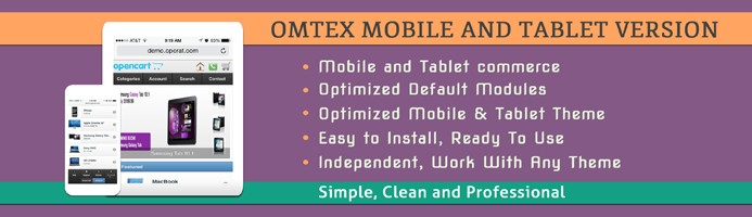 Omtex - Mobile and Tablet Version (OC 2.0.X, 1.5.X)
