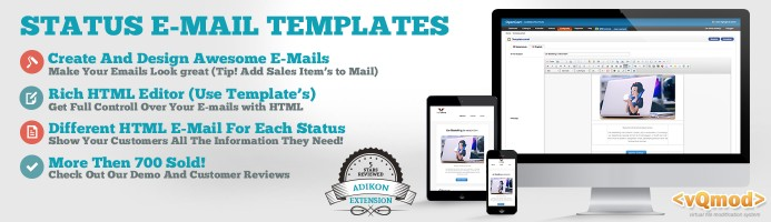 Order Status Email Templates   PDF invoice HTML Email