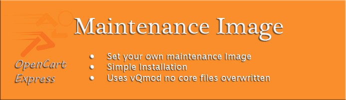 Maintenance Image - Replace Text with Image
