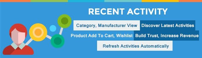 Recent Activity - Increase Sales  (Opencart 2.0x)