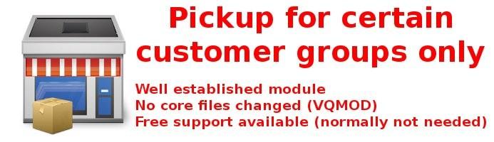 Pickup for Customer Groups