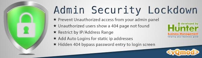 Admin Login Security Lockdown Suite