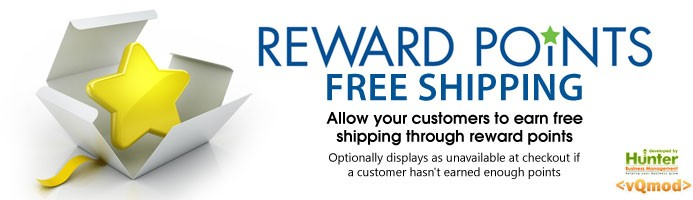 Reward Points Earned Free Shipping
