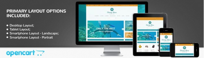 Diving Store - Responsive Theme