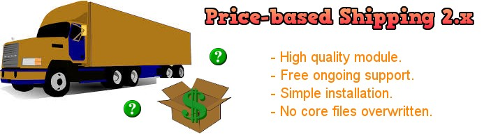 Price Based Shipping 2.x
