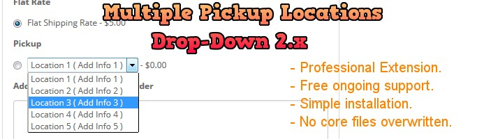 Multiple Pickup Locations Drop Down 2.x
