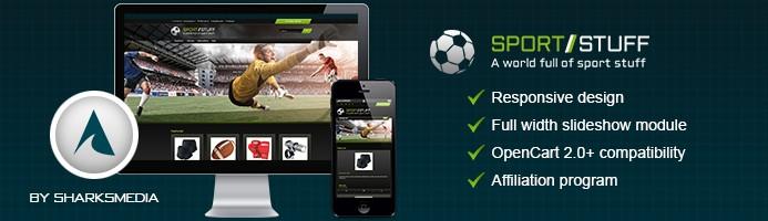 Free Responsive Opencart Theme - SportStuff