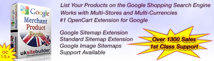 Google Merchant / Bing Shopping / Feeds + XML Sitemaps