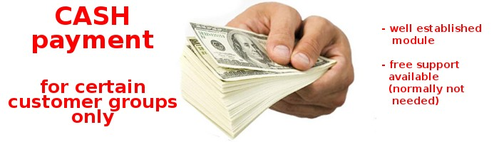 Cash Payment for Certain Customer groups