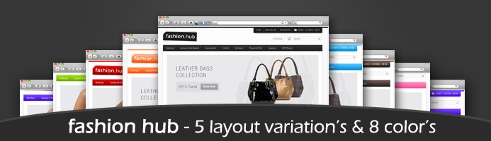 Fashion Hub Premium Opencart 1.5 Theme in 8 Colors