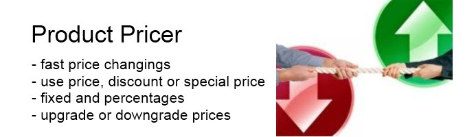 Product Price Changer : Change price, discount or special price