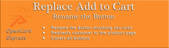 Replace Add to Cart Rename the Button
