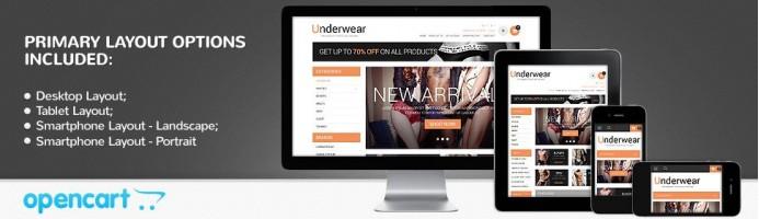 Brand Underwear - Responsive Theme