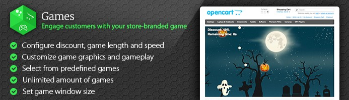 Games - Engage customers with your store-branded game