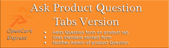 Ask Product Question - Contact Form Product Tab