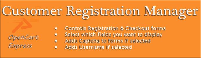 Customer Registration Manager