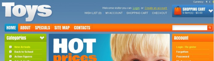 Toy Store OpenCart Theme