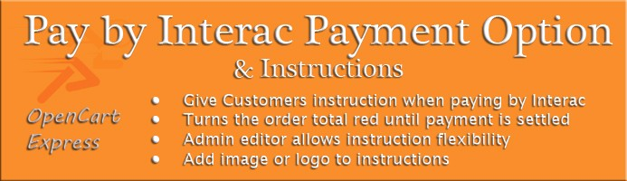 Pay by Interac Payment Instructions