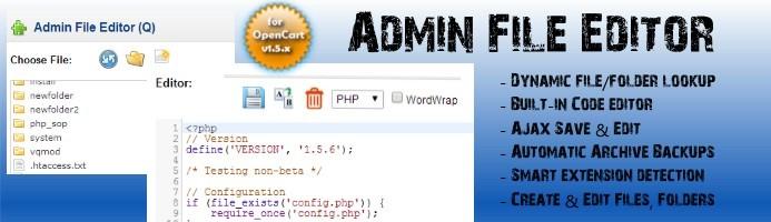 Admin File Editor / Theme Editor