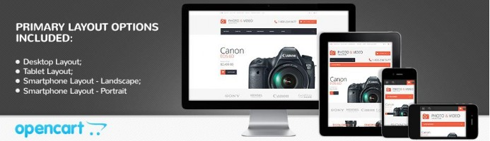 Photo & Video Store - Responsive Theme
