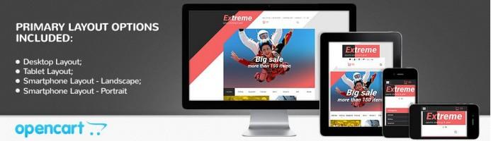 Extreme - Sports Store Responsive 2.0 Theme