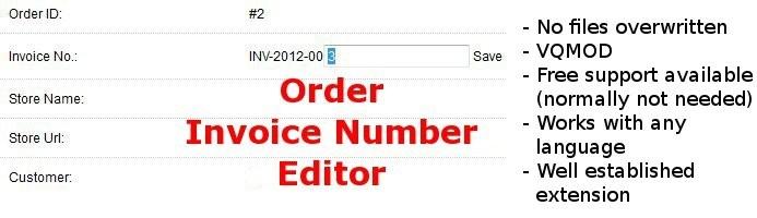 Edit Invoice Number