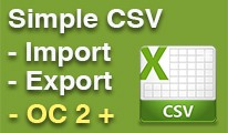 Simple CSV Import / Export, Any Database Table, OC 2 +